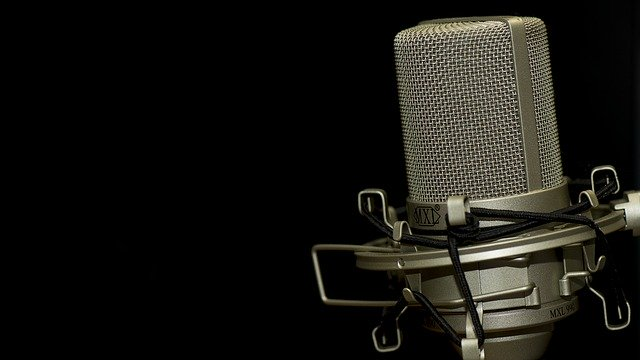 Microphone for voice over recording