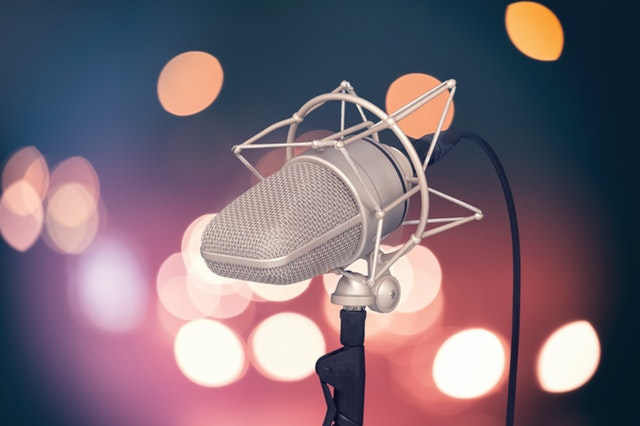 big microphone for voice actor